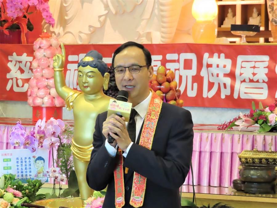 新北市前市長朱立倫強調,九二共識一中各表絕不能表成兩個中國。(葉德正攝)
