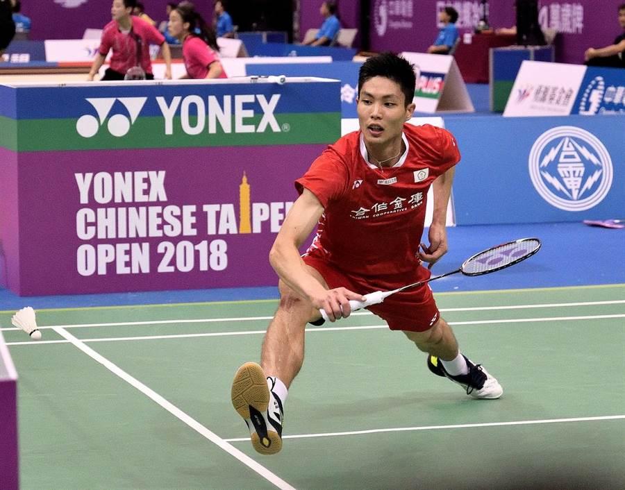 周天成在蘇迪曼盃第三點男單直落二勝香港對手伍家朗,幫助中華隊拿到確定勝利的一點。(資料照/中華民國羽球協會提供)