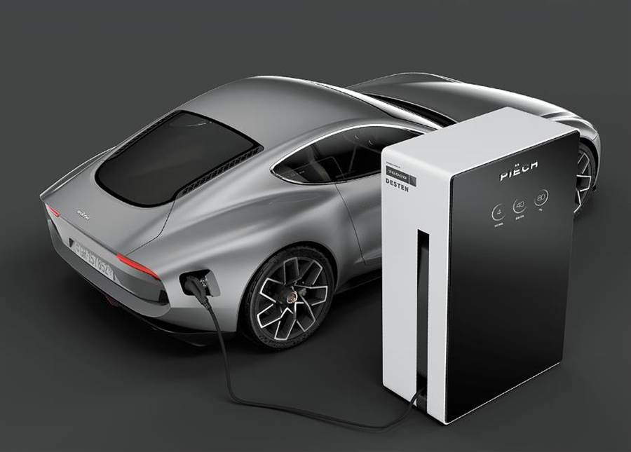 皮耶西電動車,宣稱在5分鐘內就可以快充到80%電力,這與汽車加油的時間已無差別。(圖/piech)