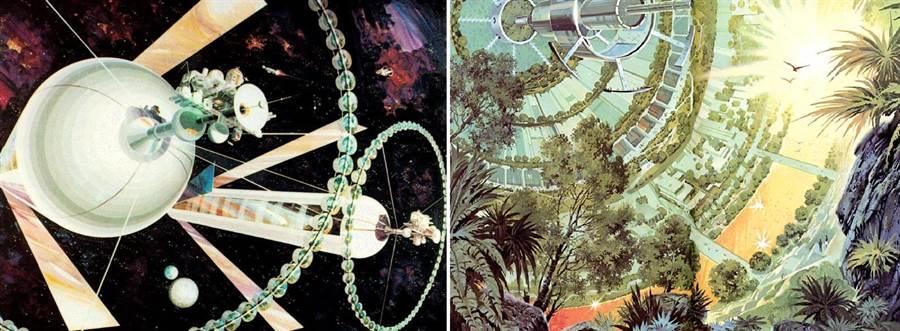 杰拉德‧歐尼爾所設想的百萬人居住太空移民站。(圖/網路)
