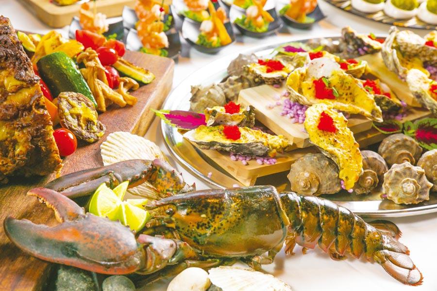雨林餐廳推出「蠔鮮蠔蚌海味季.情牽芭樂傳遞情」美食活動。圖/美麗信提供
