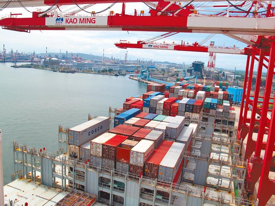 高雄市長韓國瑜力推自由經貿區,引發綠營群起反對。圖為高雄港貨櫃吞吐情形。 (呂素麗攝)