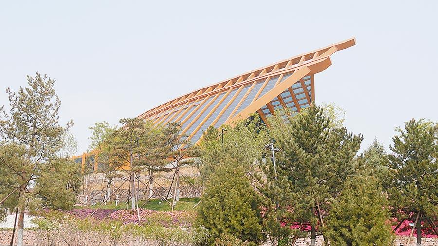 北京世園會「中國館」外觀。(記者陳柏廷攝)