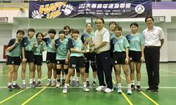 雲科大女子排球獲大專聯賽亞軍