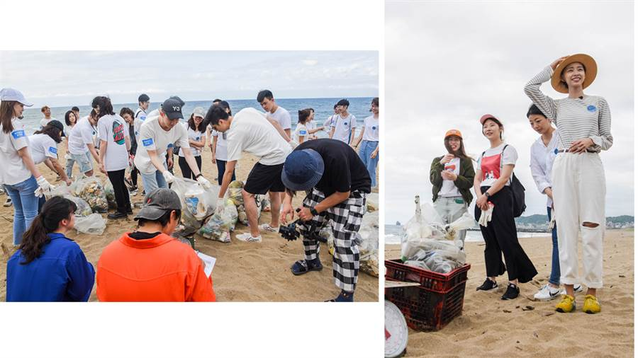 海洋友善計畫淨灘活動。
