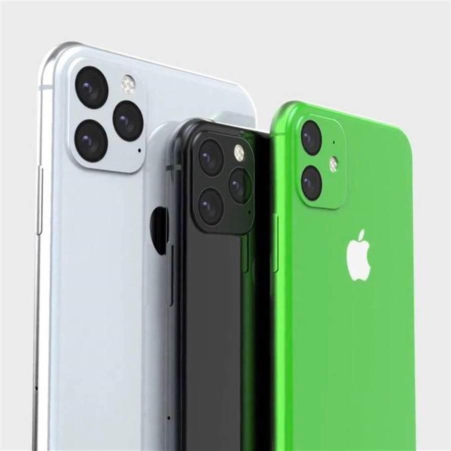 爆料達人之一的 Ben Geskin 在 Twitter 分享 2019 年新 iPhone 渲染圖,就出現了綠色的 iPhone XR,與日媒的爆料內容一致。(圖/翻攝Twitter)
