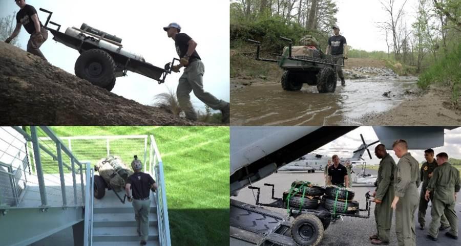 美國陸軍委託賽車專業戶亨德里克,研發無聲的電動手推車。(圖/美國陸軍)