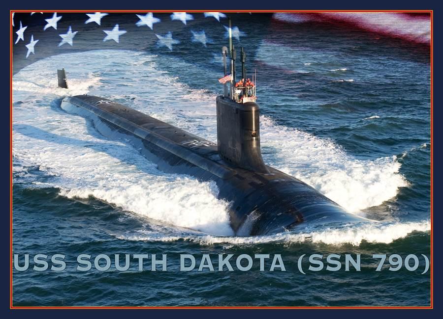 南達科他號攻擊潛艦是第17艘維吉尼亞級核潛艦,也是美國海軍所擁有的最先進技術攻擊潛艦。(圖/美國海軍)