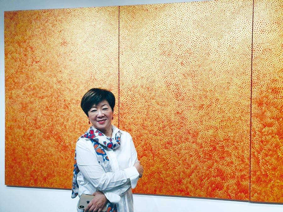 張淑芬的畫作先後在台灣羅芙奧、香港蘇富比與佳士得2大國際拍賣行上拍,成交價一路創新高。圖/邱莉玲