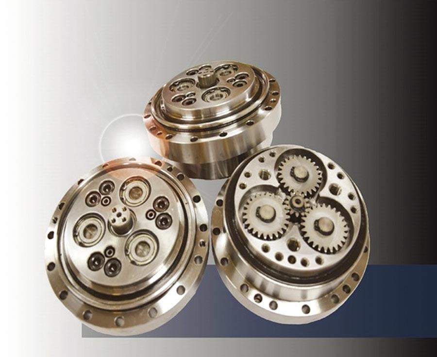 統嶺RV擺線型減速機具高效率、小體積、低磨耗的特性,適合用於機械手臂或任何有空間限制但需要高精度大扭力輸出的機械。圖/統嶺提供