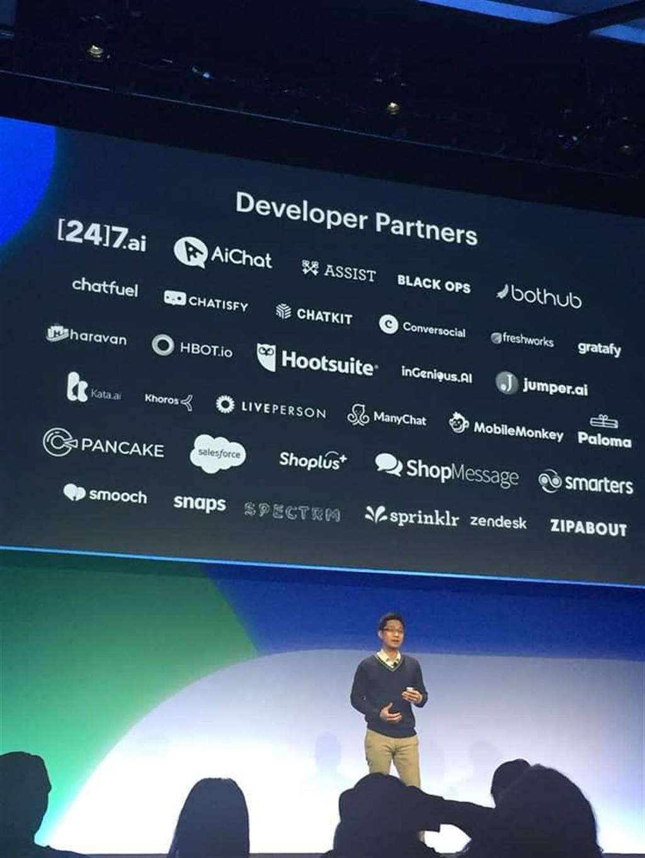 CHATISFY成為台灣第一家登上 F8 (Facebook開發者大會)的開發者夥伴,且在今年度的F8會議中多次被Facebook主動對外公開分享。(圖/CHATISFY提供)