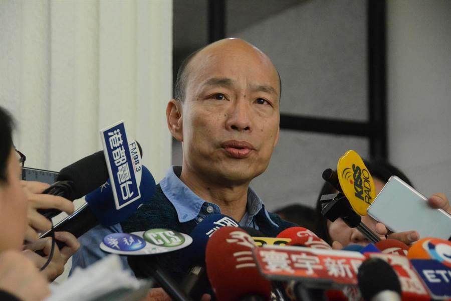 針對去年幫忙他選高雄市長的楊秋興反口,說「挺韓選總統等於詐騙共犯」,韓國瑜表示尊重,只希望大家繼續當好朋友。(林宏聰攝)