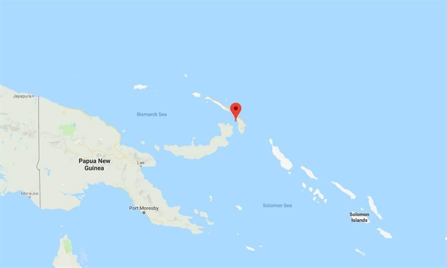 巴布亞紐幾內亞東部新愛爾蘭島發生7.5地震。(圖/google)