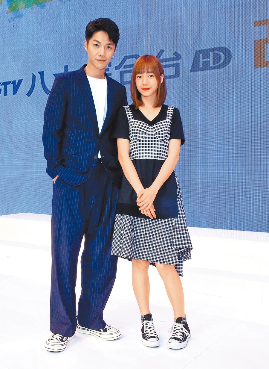 陳信維(左)、陳天仁在八大新戲《90後的我們》配對演出。(粘耿豪攝)