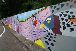 鐵砧山邊坡牆換新裝 超萌灰面琵鷹吸睛