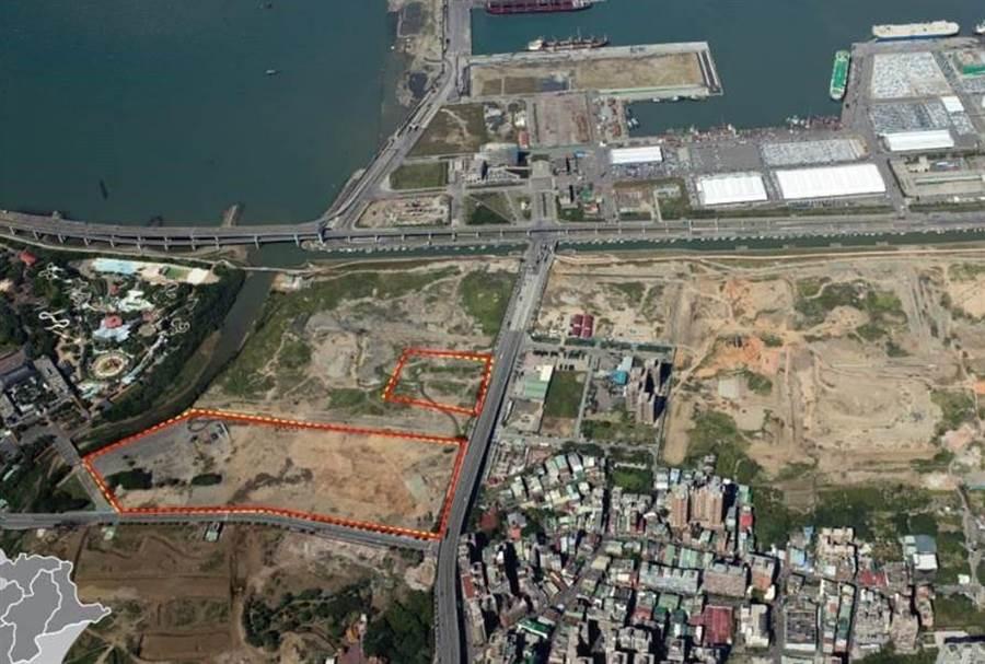 台北港內10.25公頃的娛樂專用區變更產業專用園區。(新北市政府提供)