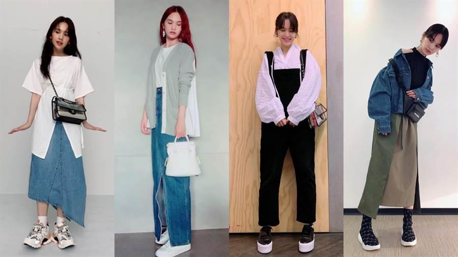 楊丞琳平時喜歡在IG上分享日常穿搭,並貼心標記單品品牌,讓粉絲們一目瞭然。(圖/IG @rainie77)