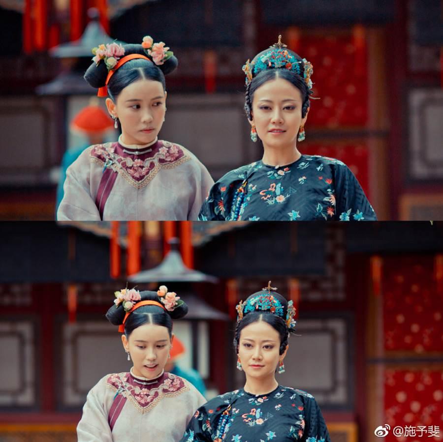 施予斐曾在宮廷劇《延禧攻略》飾演高貴妃身旁的心機宮女「芝蘭」。(圖/取材自施予斐微博)