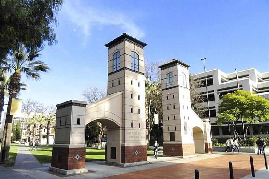 逢甲大學與美國加州聖荷西州立大學工學院電機工程學系合作辦學,成立「工程雙學士學位學程」。圖為美國加州聖荷西州立大學校景。(美國加州聖荷西州立大學提供)