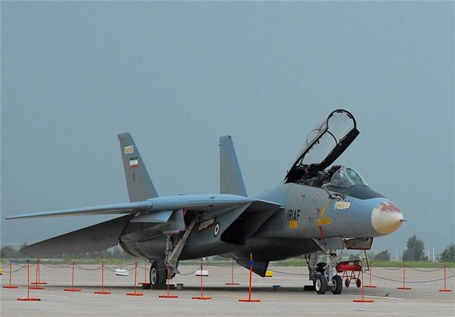 據說,伊朗F-14戰機可能只有12~14架可以動用。(圖/伊朗空軍)
