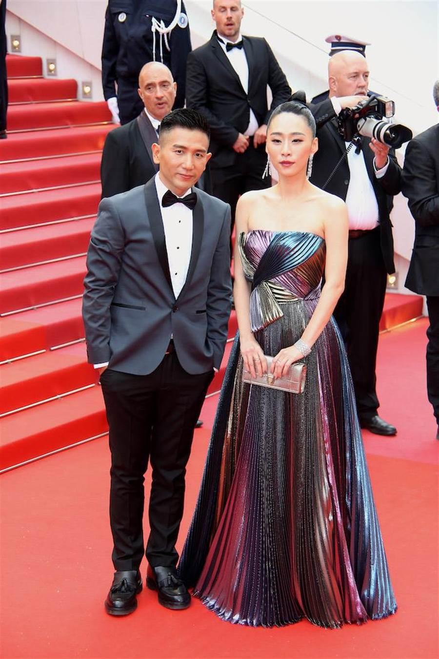 趙德胤和吳可熙代表《灼人秘密》一起走上坎城紅毯。(岸上影像提供)