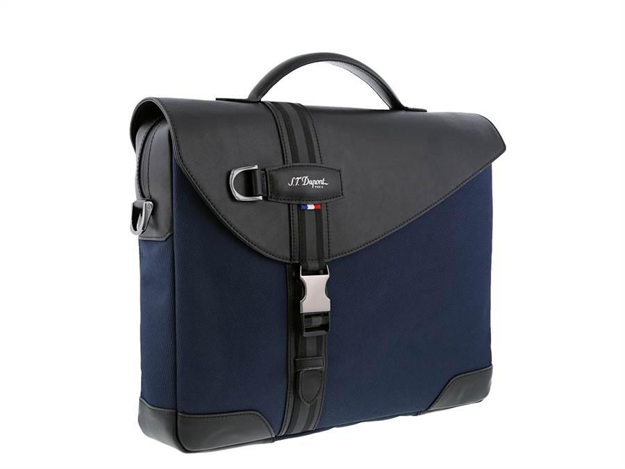 S.T.Dupont品牌年輕化,推出DEFI MELLENIUM手提包,1萬6800元。(迪生提供)