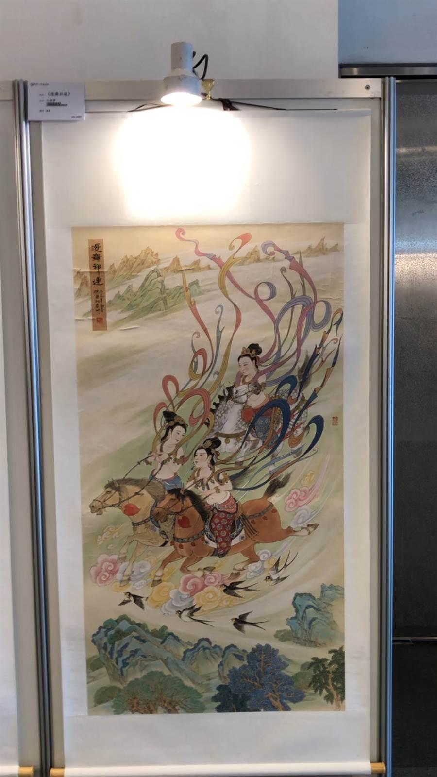 國畫《漫舞祁連》王驍勇/中國美術家協會會員,甘肅省美術家協會駐會副主席
