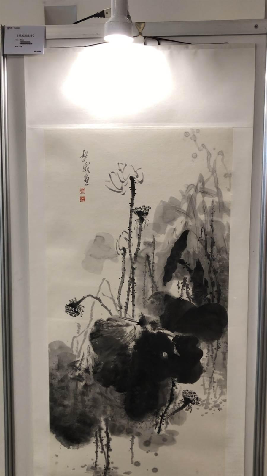 國畫《荷風滿庭香》樊  威 / 中國美術家協會會員,甘肅省美術家協會副主席