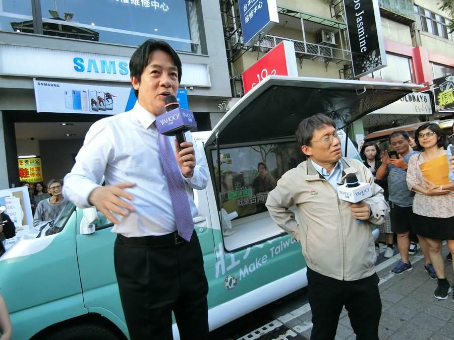 前行政院長賴清德表示若當選總統也不會宣布台灣獨立。(盧金足攝)