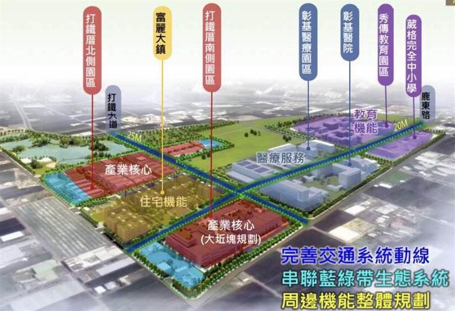 彰化縣政計畫在鹿港鎮富麗大鎮住宅區打造「打鐵厝產業園區」掀起爭議。(吳敏菁翻攝)