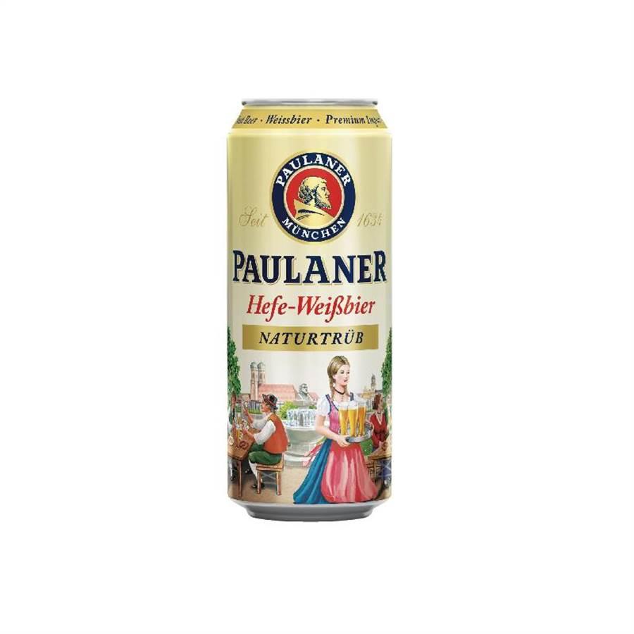 頂好「PAULANER寶萊納小麥啤酒」,經典麥芽香味,500ml、75元。(頂好提供)(未滿飲酒18歲請勿飲酒)
