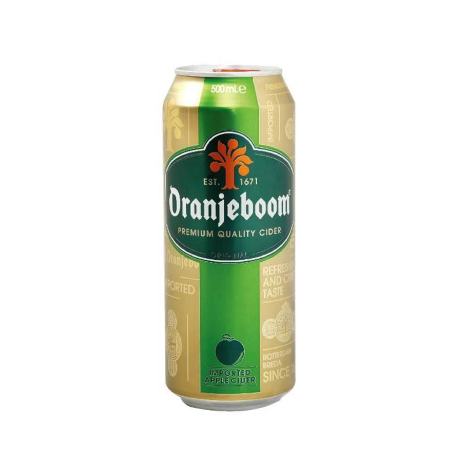 頂好「ORANJEBOOM 蘋果酒」500ml,淡雅的果香酸中帶甜,2罐105元。(頂好提供)(未滿飲酒18歲請勿飲酒)