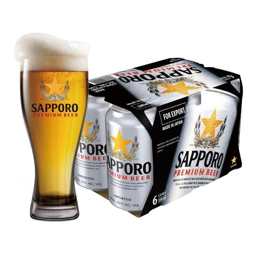 頂好「SAPPORO PREMIUM啤酒」350ml,6入199元。(頂好提供)(未滿飲酒18歲請勿飲酒)