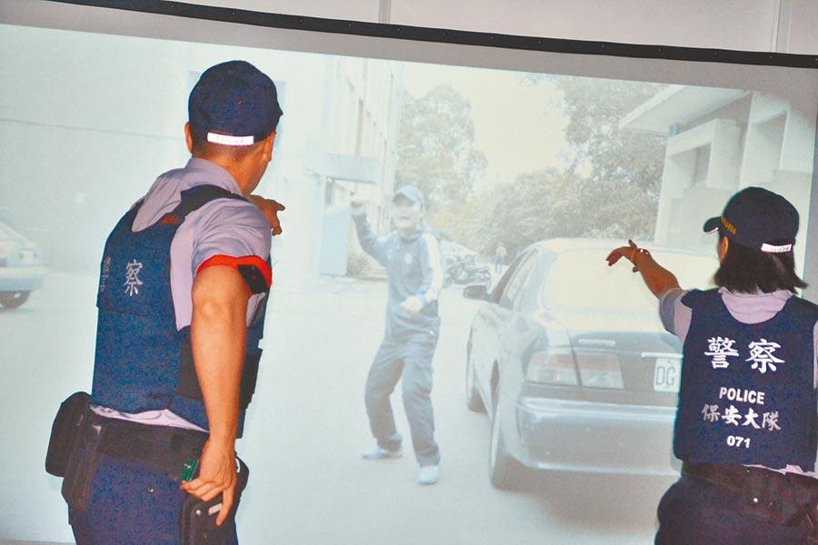 新北市政府警察局8名官警因涉嫌偽造竊車賊筆錄,新北地檢署14日發動搜索約談。圖為新北市啟用的「情境模擬應變射擊訓練場」,模擬各種突發狀況。(中央社)