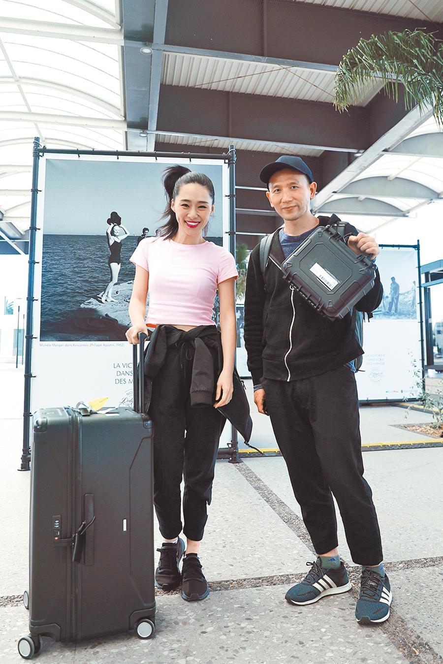 吳可熙(左)和趙德胤以輕鬆心情面對坎城影展。