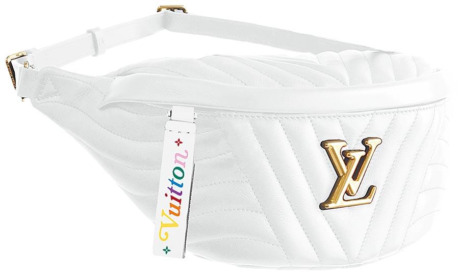 LV NEW WAVE白色腰包,6萬1500元。(LV提供)
