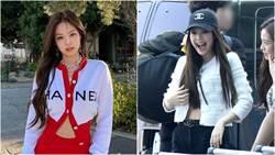 Jennie機場穿搭「胸口大開」網驚:裡面竟沒穿?