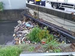 花壇淹水10年  大排成了垃圾漂漂河