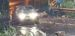 大雨不斷 埔霧公路人止關隧道落石砸車