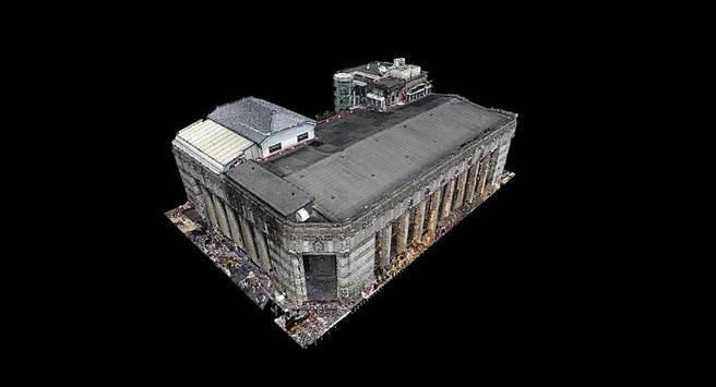 國立台灣博物館展示近期完成建築3D掃描成果。(文化部提供)