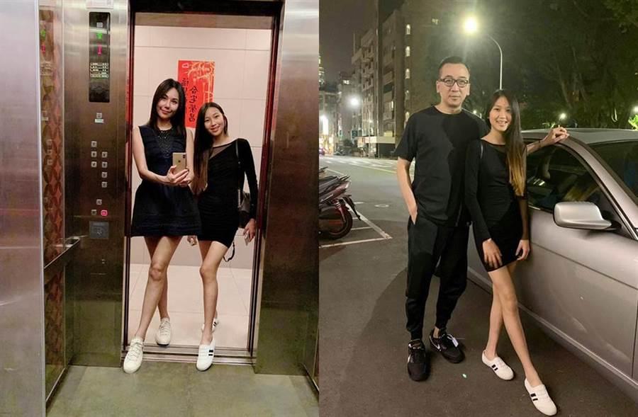 洪曉蕾女兒遺傳名模基因,擁一雙逆天長腿。(圖/翻攝自王世均臉書)