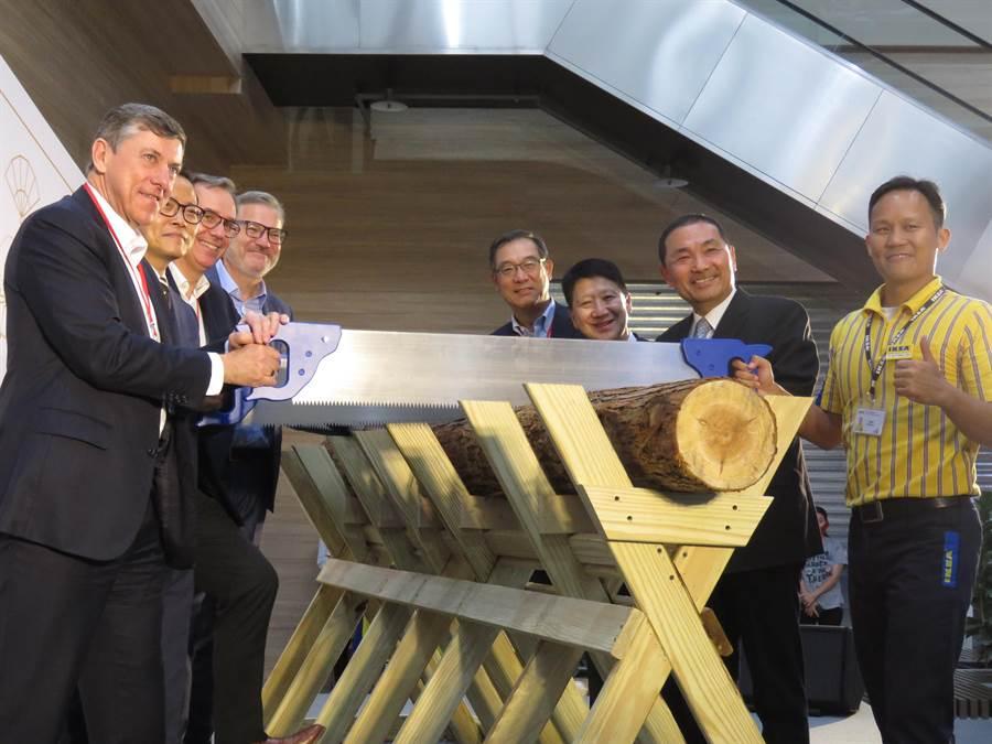 新北市長侯友宜今(16日)上午出席「IKEA宜家家居─新店店」開幕儀式。(葉書宏攝)