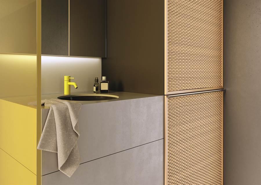 極簡主義不再只是以往所認知的黑、白、灰三色,而是在簡化空間色彩應用的過程中,找回設計最初的本質,同時,透過深化及拓展顏色的情感溫度,運用色彩為個人發聲。除了標準色亮鉻色、霧黑鉑金、霧黑色外,Dornbracht根據室內設計與空間的色彩應用,透過10種不同表面顏色處理,為空間帶來變化。(楠弘廚衛提供)