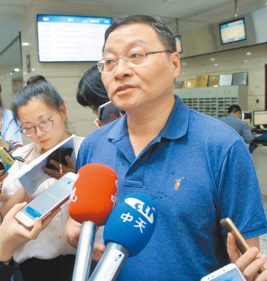 南京市台胞服務中心主任趙崗。(記者葉文義攝)