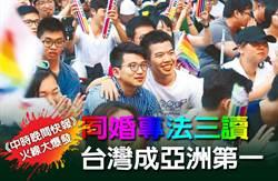 《中時晚間快報》同婚專法三讀 台灣成亞洲第一