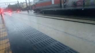 新竹大雨不斷 台鐵北湖至湖口雙線暫不通