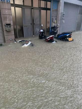 竹市雷電雨狂炸 多處低窪地區積水