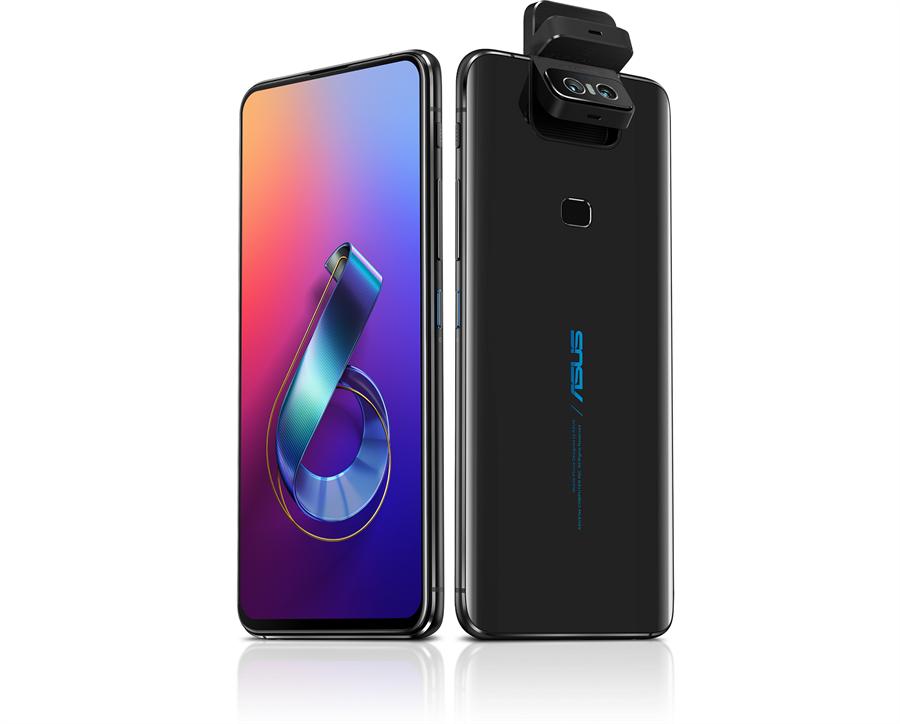 ASUS ZenFone 6為首款全螢幕無瀏海設計ZenFone手機,結合創新翻轉式相機,特色明顯。(圖/華碩提供)