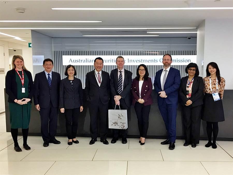 金管會主委顧立雄率團赴澳洲參與國際證券管理機構組織(IOSCO)年會,並於15日拜會主辦機關澳洲證券與投資監管委員會(ASIC)。(圖/金管會)