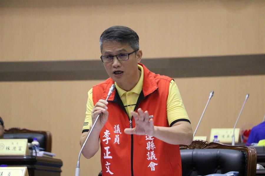 縣議員李正文希望府加強運動觀光休閒活動。(范振和攝)